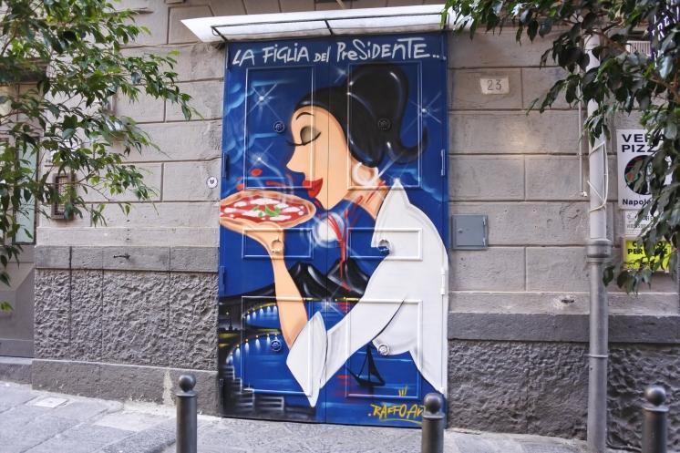 Pizza everywhere.