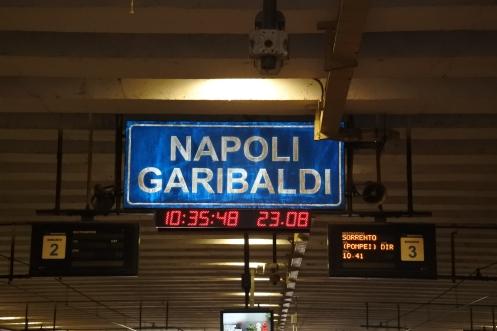 Crowded train to Pompeii