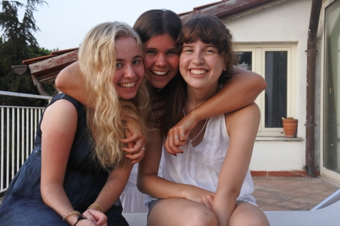 The girls.