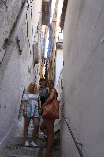 The narrow streets with lots of stairs.